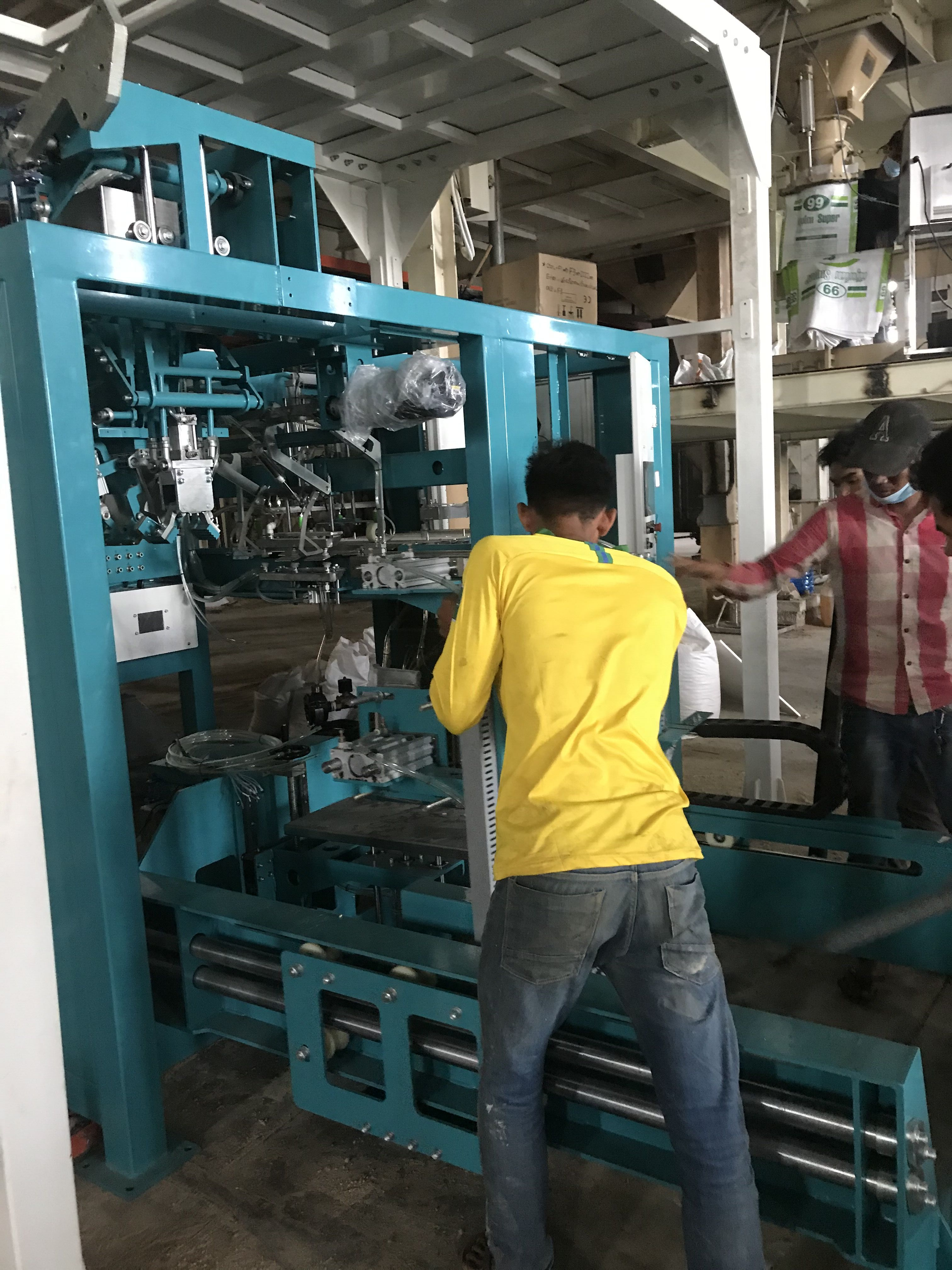 rice Bagging machine fully automated packing line for Bagging system fully automated packing line Textured Protein Bagging Machine Packing Machine bagging palletizing system