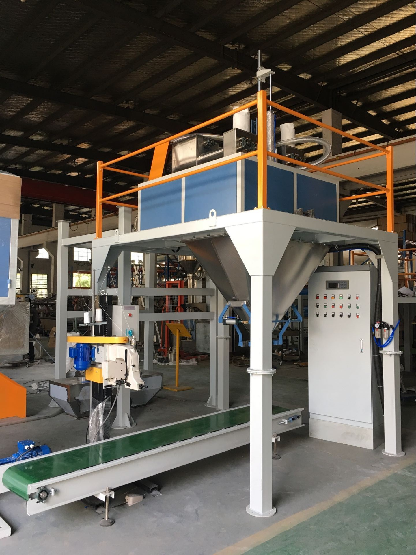 Gypsum Powder Bagging machine fully automated packing line for Bagging system fully automated packing line Textured Protein Bagging Machine Packing Machine bagging palletizing system
