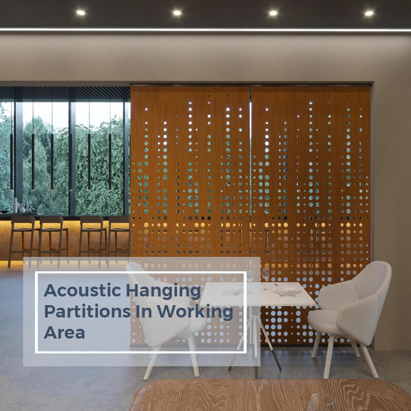 Acoustic Hanging Partitions Decorate in Working Area