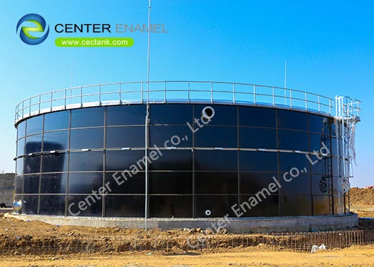 Glass Fused To Steel Bolted Bolted Steel Tanks As Anaerobic Digestion Tanks With Double Membrane Roof