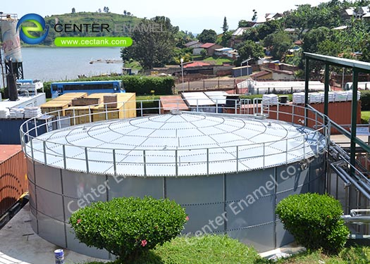 35400 Gallon Anaerobic Digester Tank With Double Membrane For Anaerobic Digestion Plants