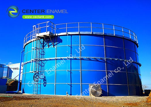 Glass - Fused - To - Steel Bolted Tank As Anaerobic Digester Tank Easy To Clean