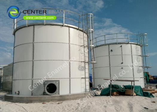 ISO9001 Anaerobic Digestion Tanks With Three Phase Separator For Biogas Project