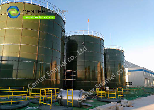 6.0 Mohs Hardness Up Flow Anaerobic Digestion Tank With Double Membrane Roof