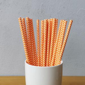 Custom Purple Paper Straws