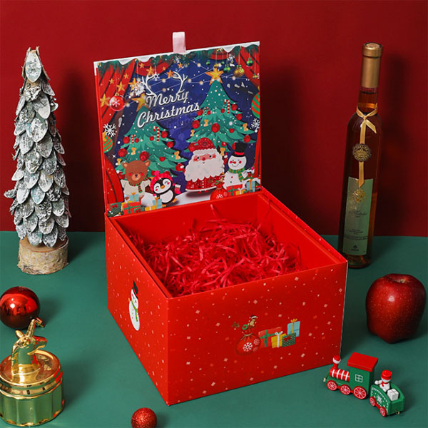 Custom Cardboard Decorative Christmas Gift Paper Pakaging Box Wholesale