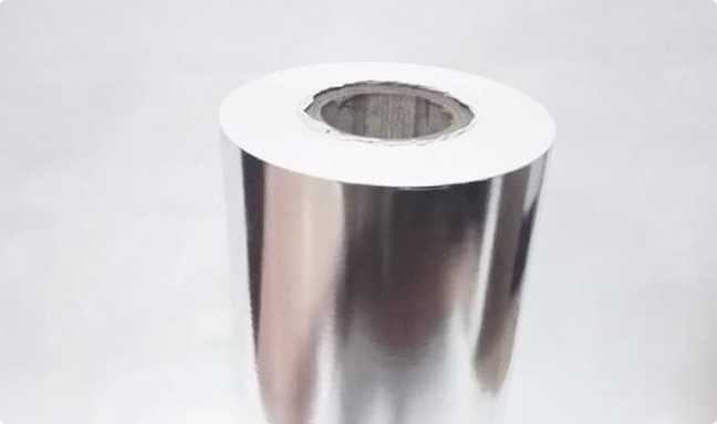 Metallized paper for labels