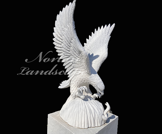 Marble eagle sculpture