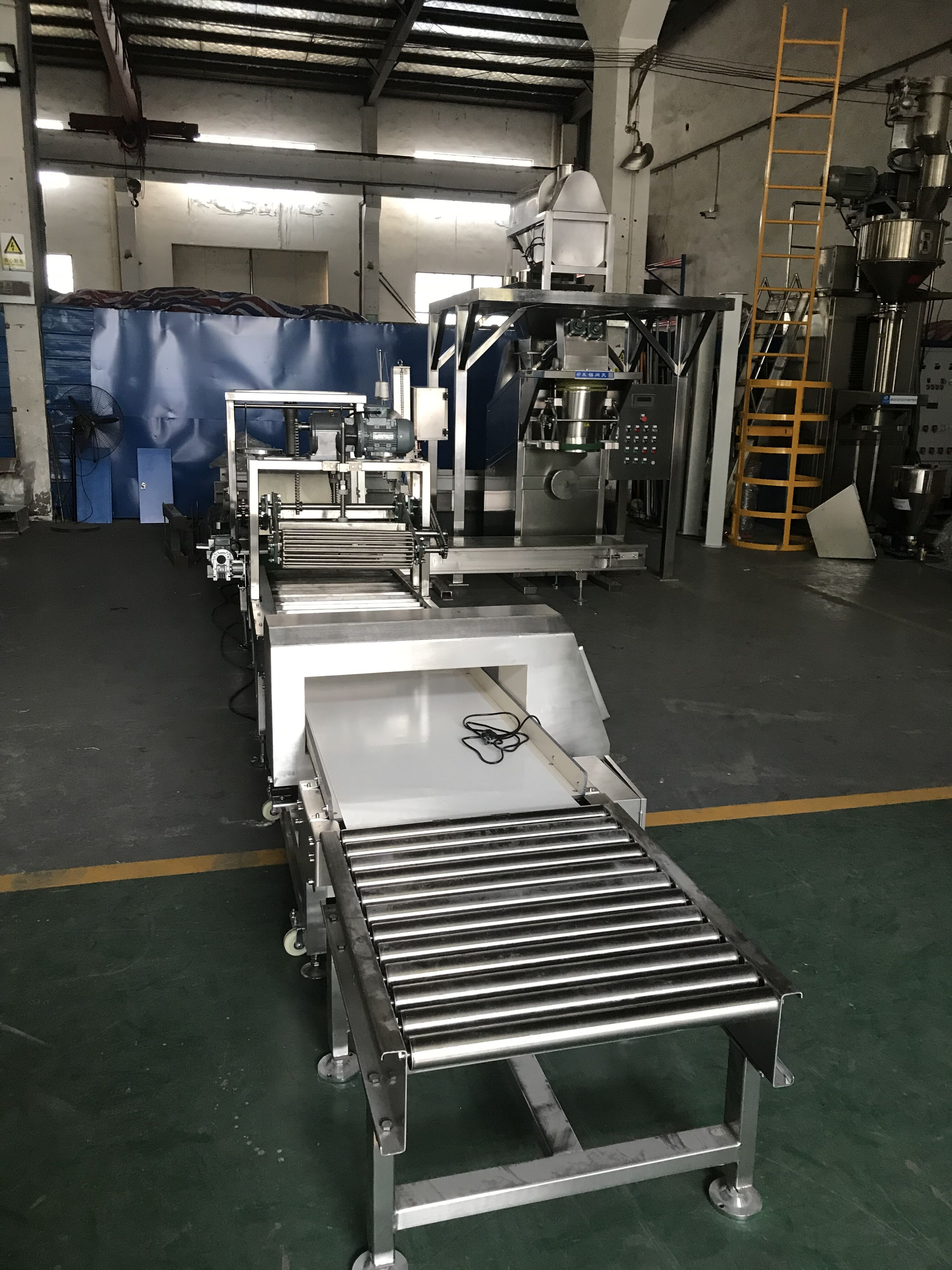 Full set Automatic Bagging system for granulated sugar factory full automatic Bagging lines full automatic packaging line full automatic flour bagging palletizing and wrapping system