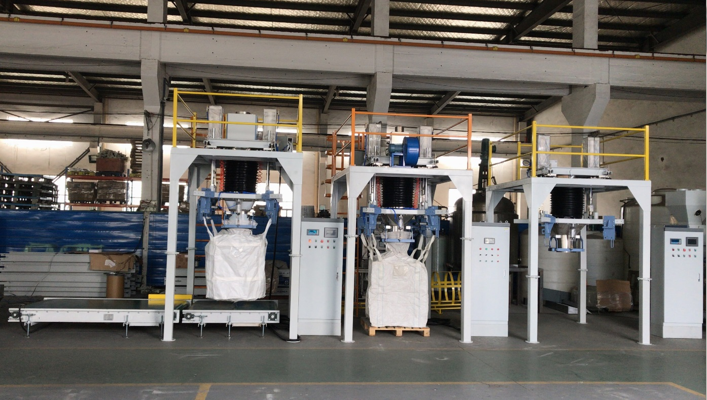 big bag bagging machine for fertilizers, grains, rice, barley, soya beans big bag filling machine bulka bag filler Super Sack Filler bulk bag packer