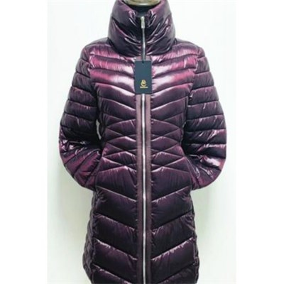 Womens Fashion Long Fake Down Jacket
