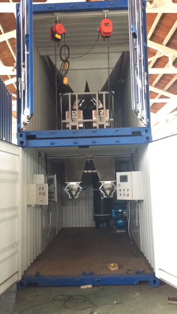 Containerised bagging machine for sulphate fertilizer Containerised bagging system Mobile Bagging Unit Wuxi HY Machinery Co., Ltd.