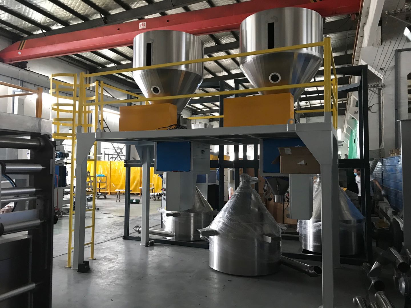 Containerised bagging machine for fertilizers Containerised bagging system Mobile Bagging Unit Wuxi HY Machinery Co., Ltd.