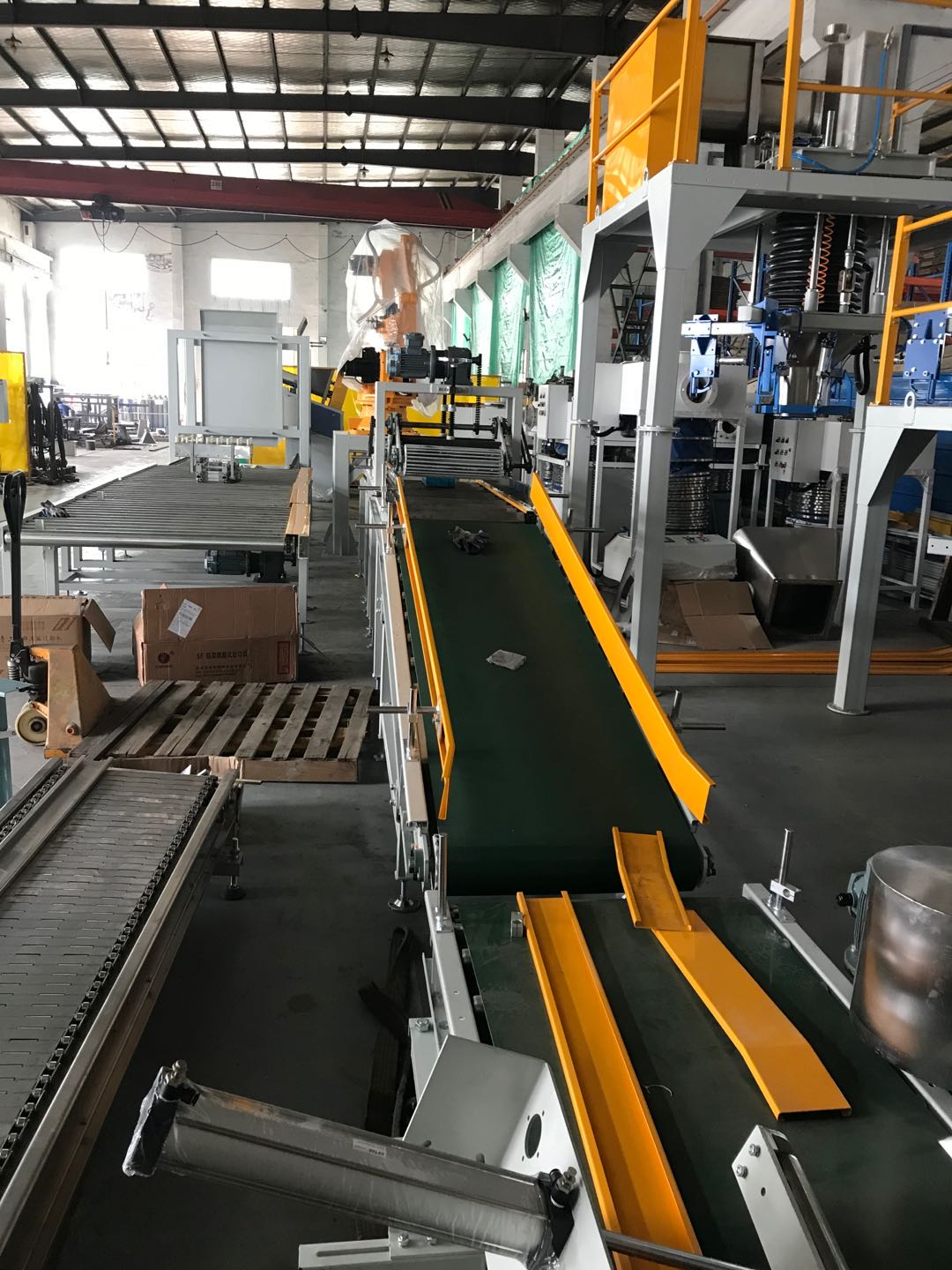 fully automatic bagging system for wheat flour Automatic bagging Palletizing Line Full Automatic Packing & Palletizing Line