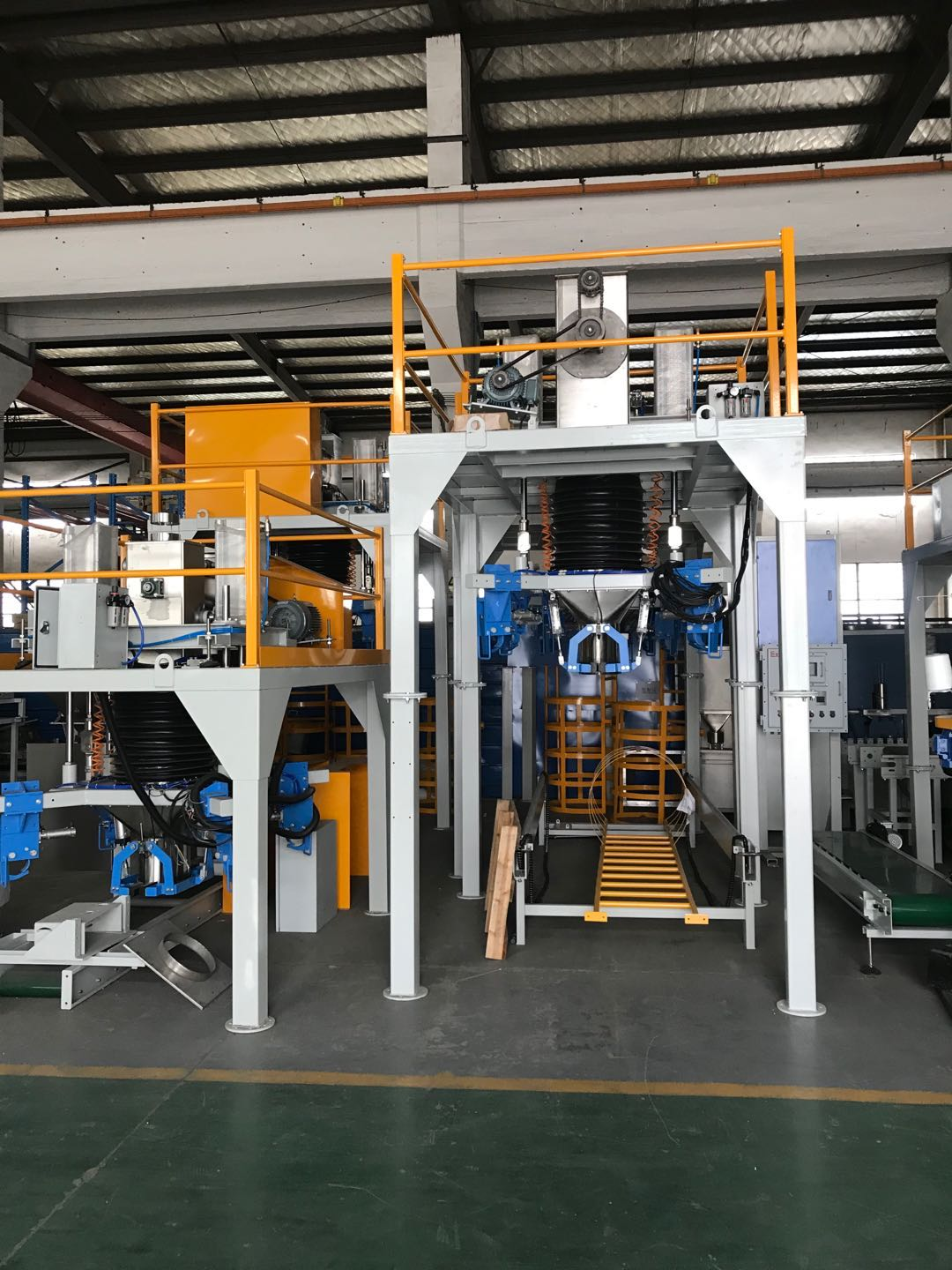 fully automatic bagging system for coal coke Automatic bagging Palletizing Line Full Automatic Packing & Palletizing Line