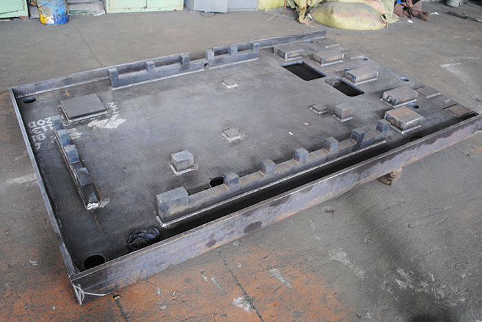Machining center base Welding