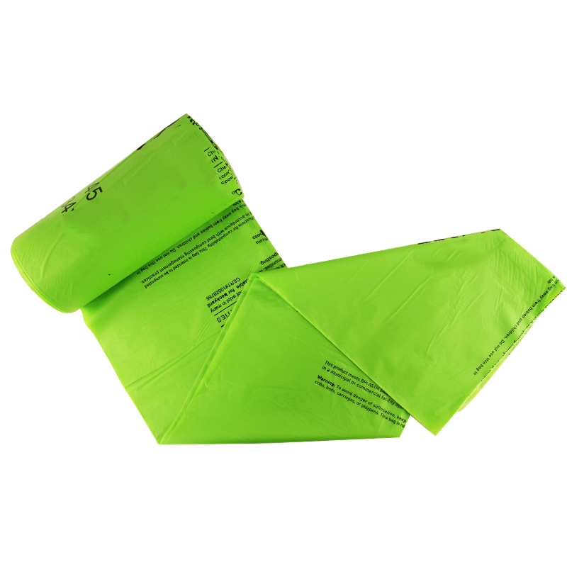 on roll PBAT corn starch based  100% biodegradable and compostable caddy liners