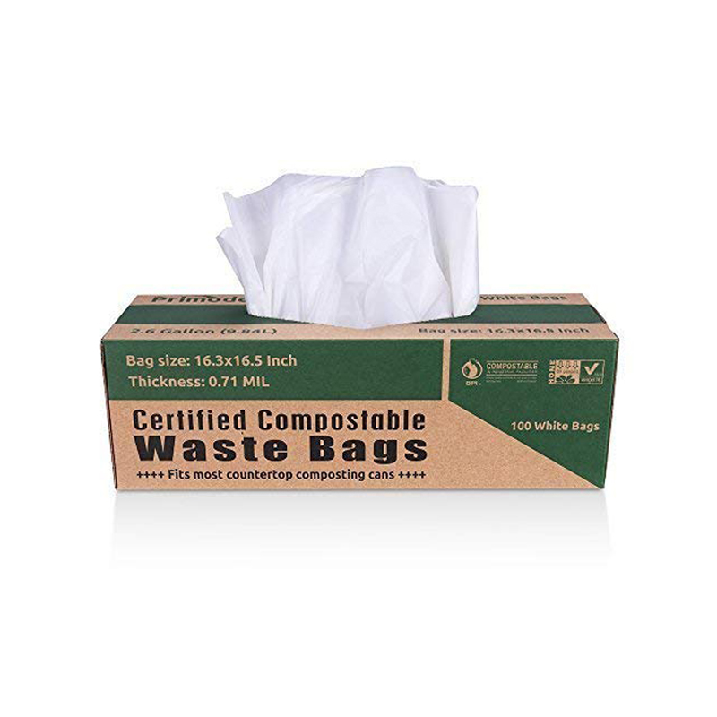 customized biodegradable bioplastic garbage bag on roll