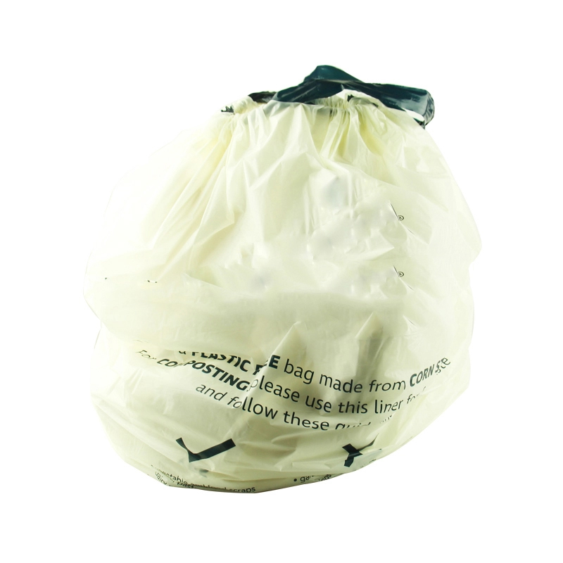 100% biodegradable cornstarch garbage bags with logo