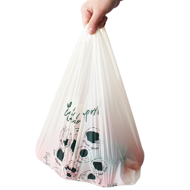 eco friendly custom printed clear bioplastic garbage bag