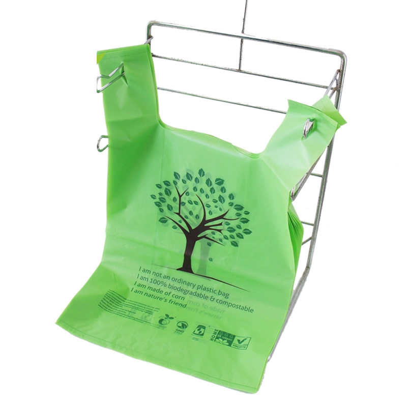 eco friendly cornstarch made biodegradable custom personalised printed plastic bags