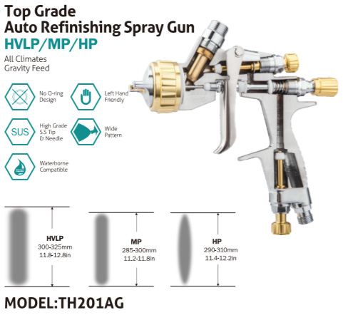 TH201AG TOP GRADE AUTO REFINISHING SPRAY GUN