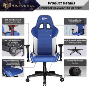 Victorage computer game chair racing chair(Blue)