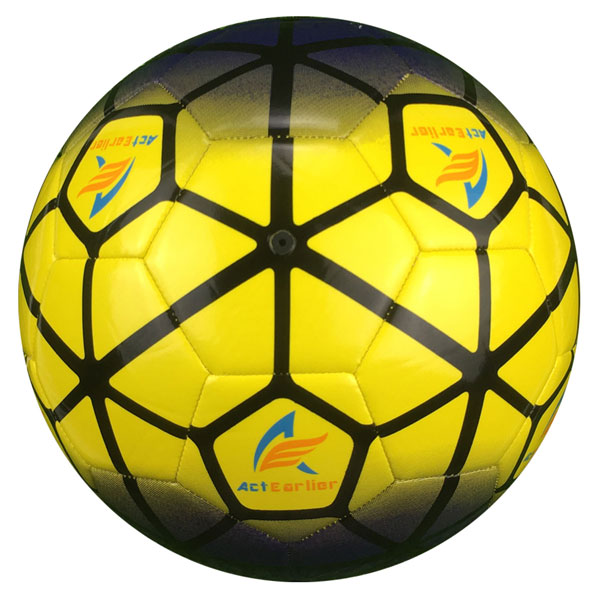 Custom Design Official Size 5 Machine Stitching TPU Football Soccer Ball for Gift