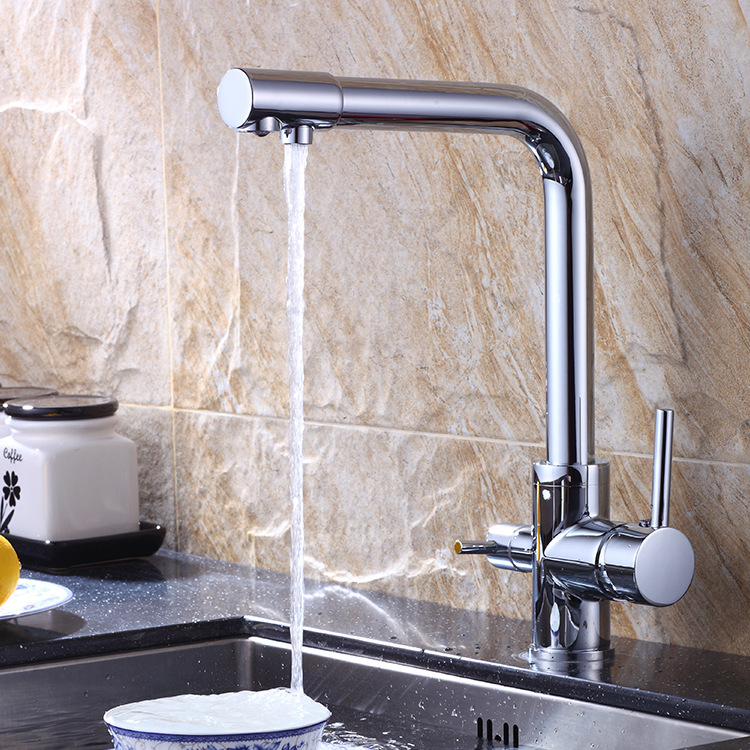 Copper water purification kitchen faucet hot and cold mixed water list kitchen faucet bathroom