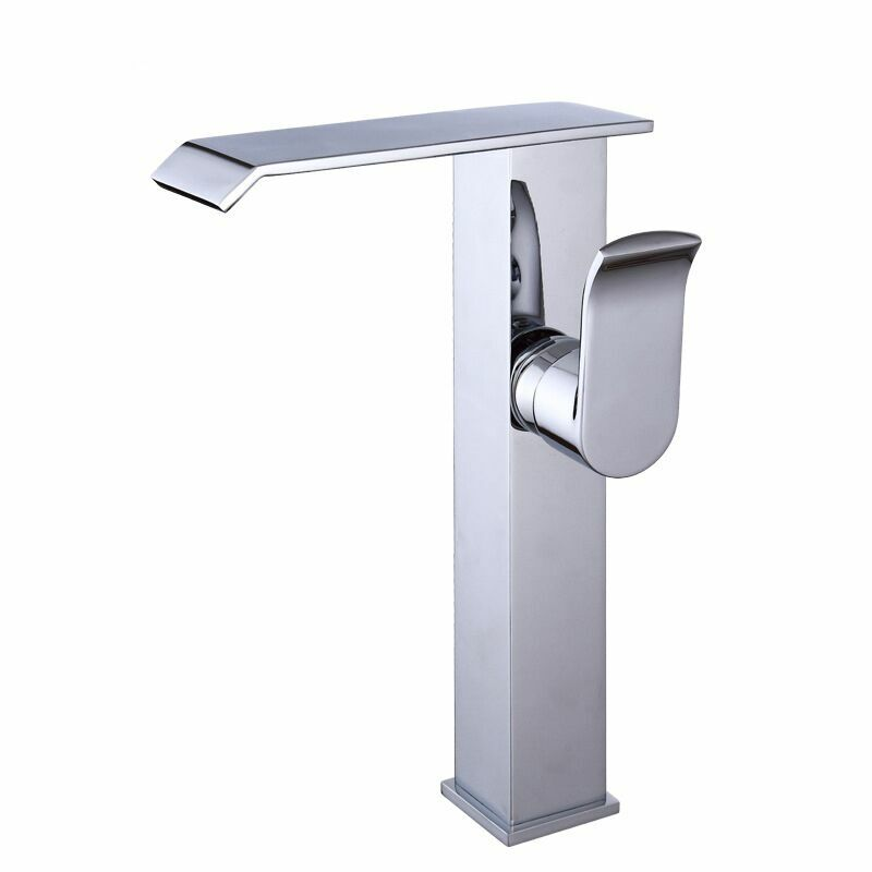 Copper Hot and Cold Basin  Bathroom Waterfall Faucet