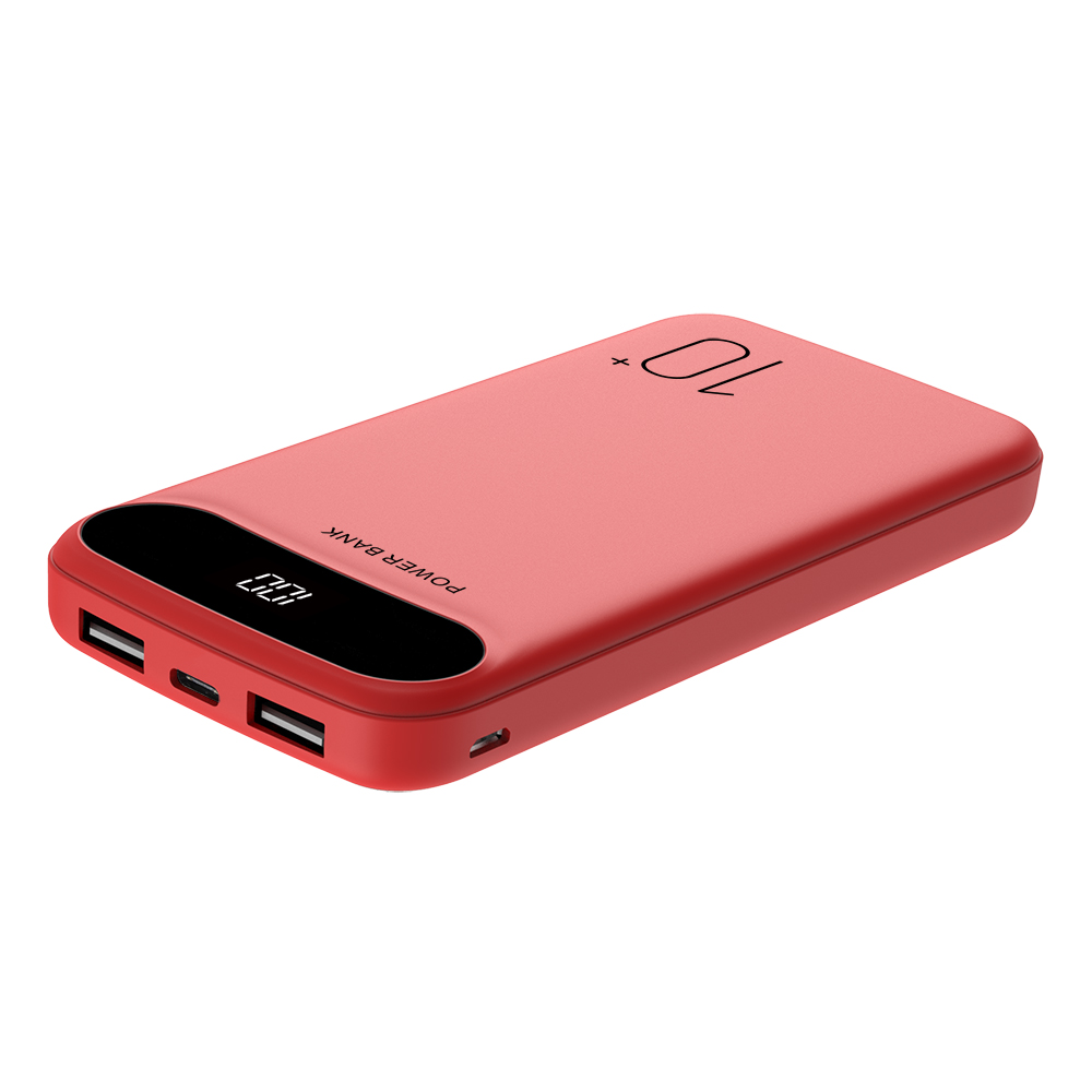 Super Slim power bank 10000mah with digital display 2 output and 2 input Portable Mobile Charger