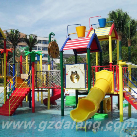 water park equipment Fiberglass Children Aqua House