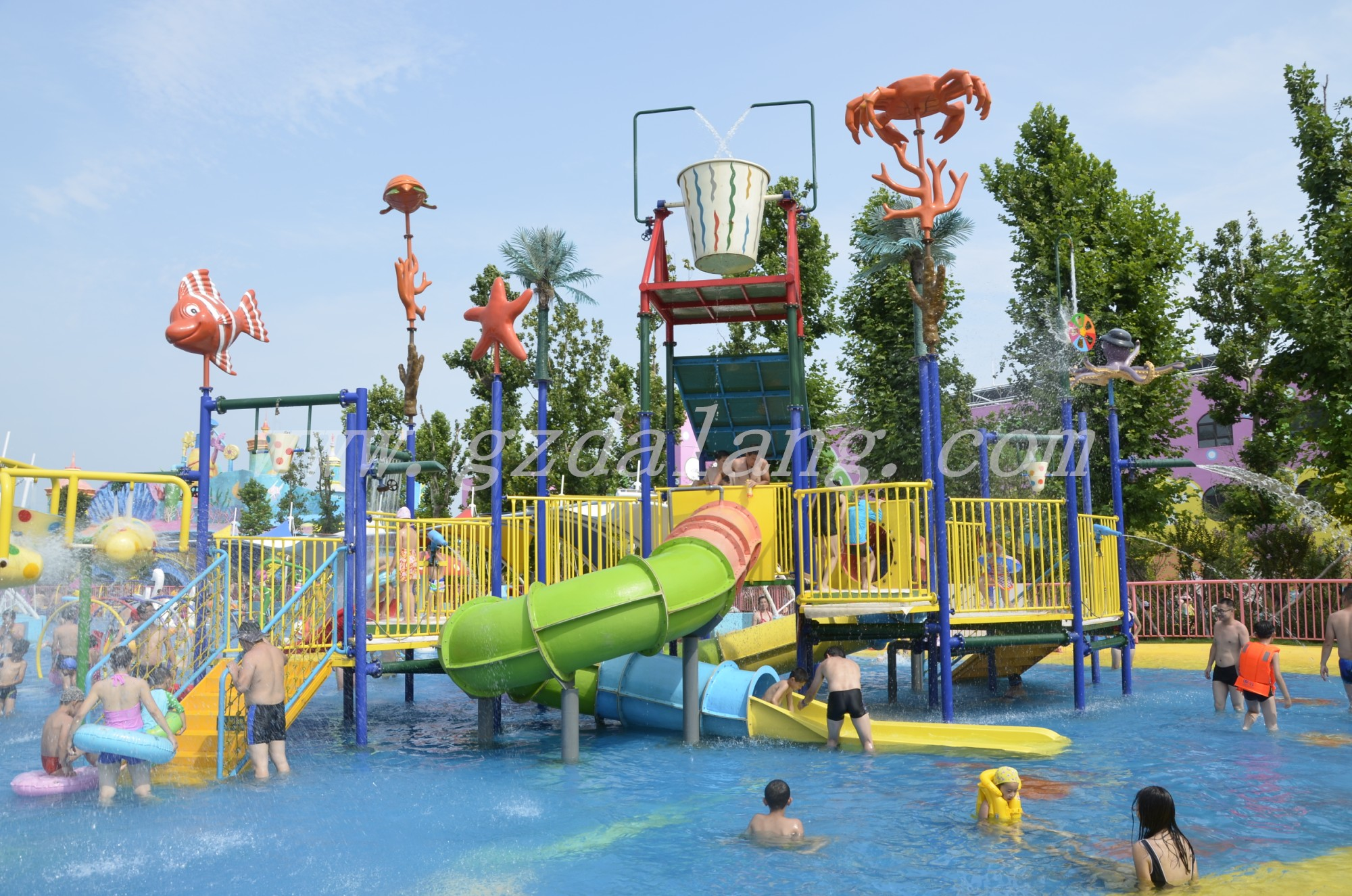 Ocean-World Water Park Playground