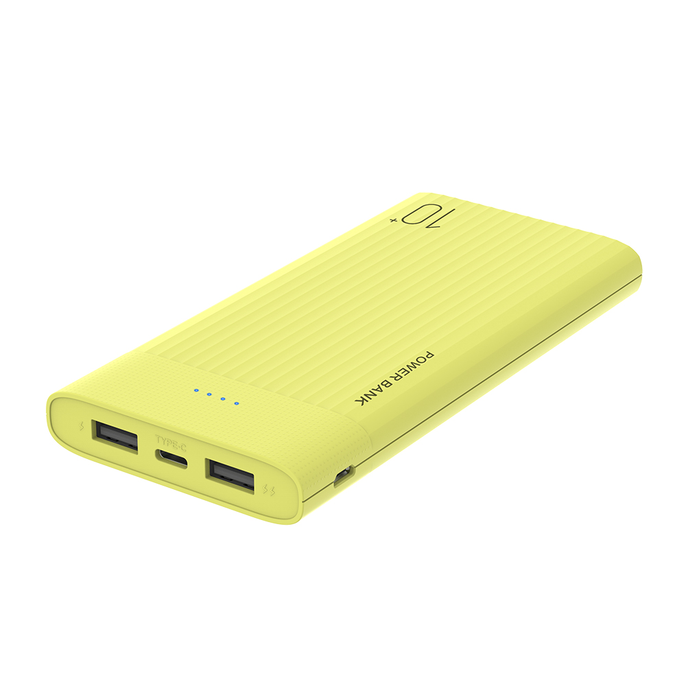 New Slim Size Power Bank 10000mah Dual USB output Portable Charger