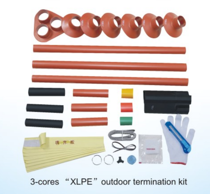medium and high voltage heat shrinkable termination kits