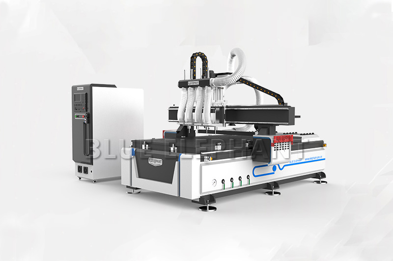 ELECNC-1325 Multi-head 4 axis CNC Router