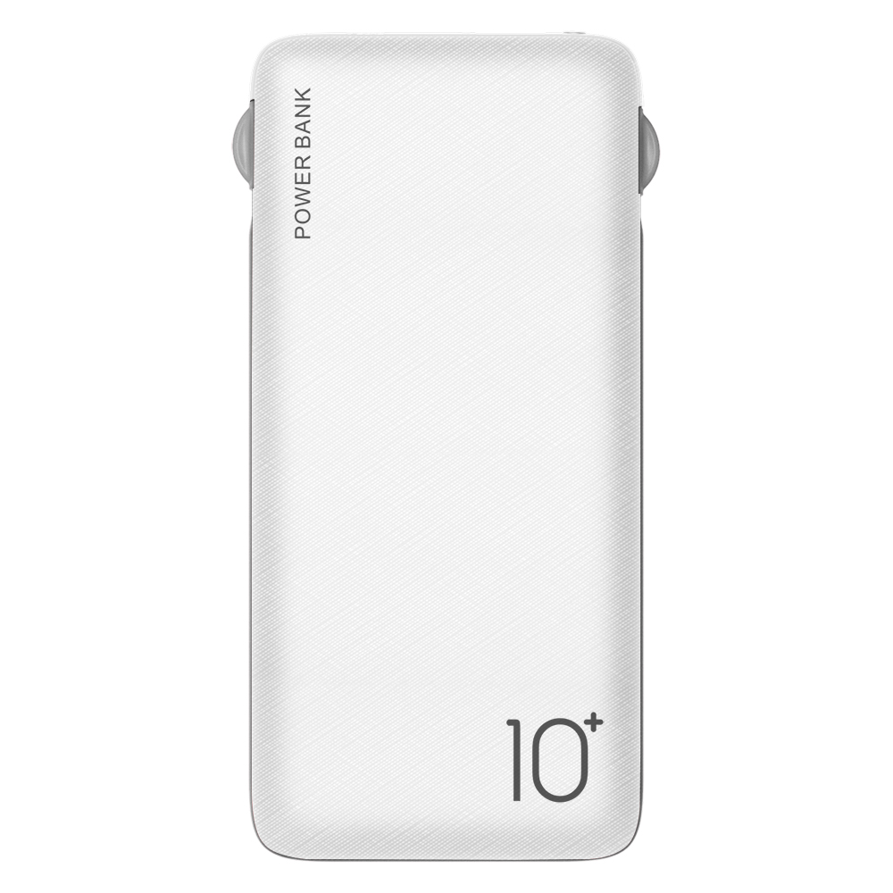 Built in charger cable 10000mah charger power bank slim power bank for phone