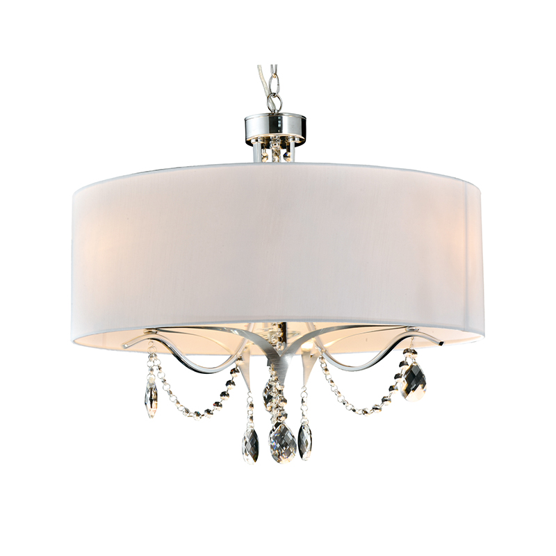 Modern Classic Simple Cloth Cover Crystal Decoration Chandelier Nc1244p-3b