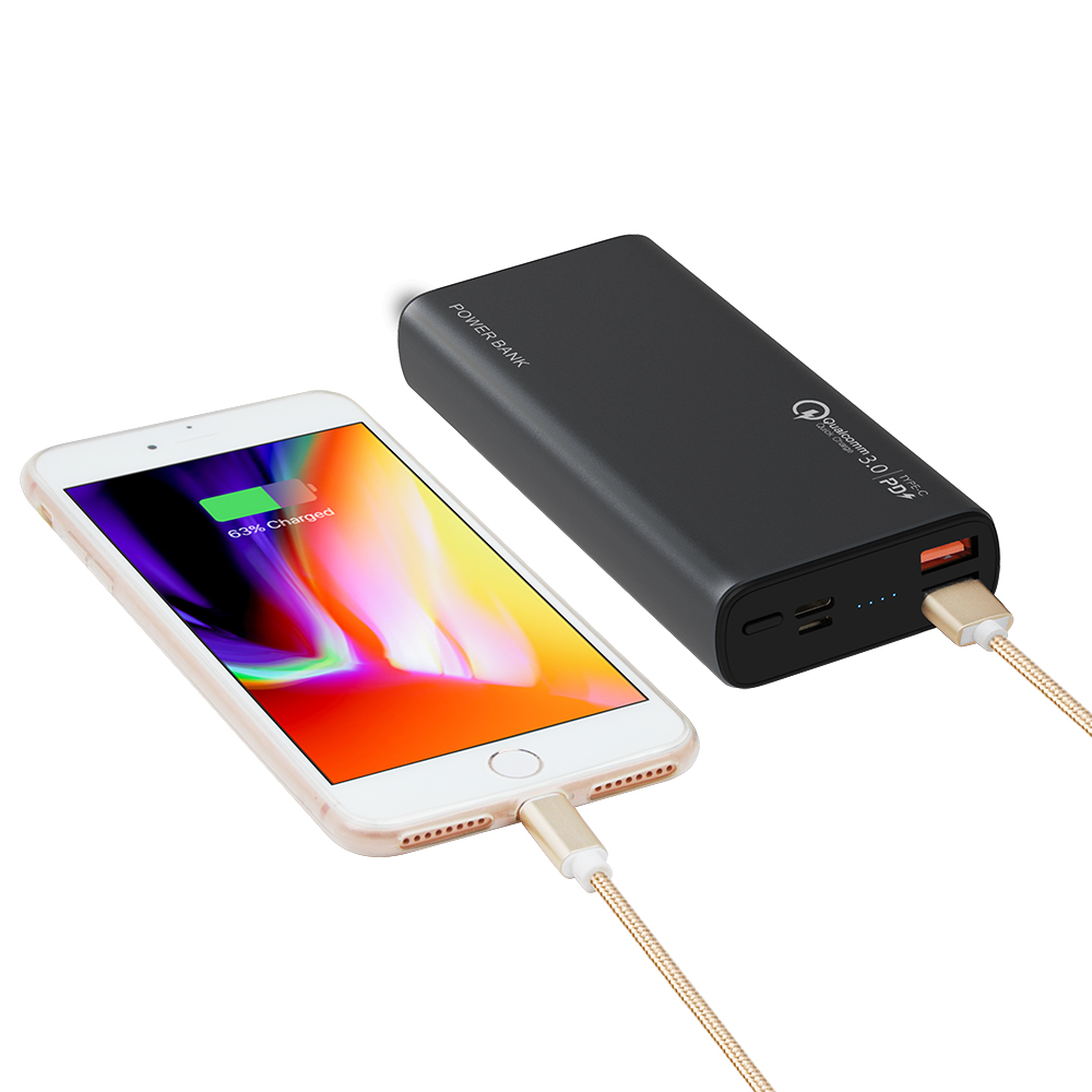 High Capacity Powerbanks Fast Charging Power Bank 20000mah ABS+PC Charger With Metal Case For Smart Phone