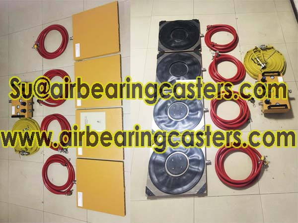 Air caster machine moving equipment application and instruction