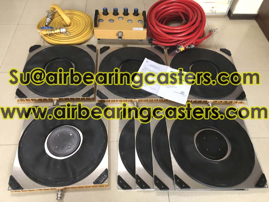 Air caster system is the machinery moving and loading