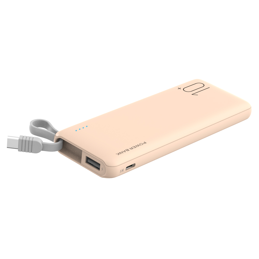 New Trending Power Bank 10000mah Portable Power Charger With Type-C Cable For Mobile Phone