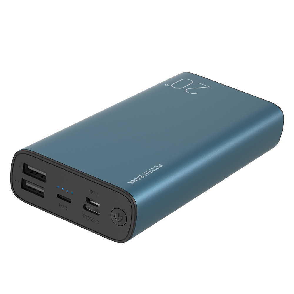 Big capacity 3 input interface 20000mAh metal housing power bank portable mobile charger