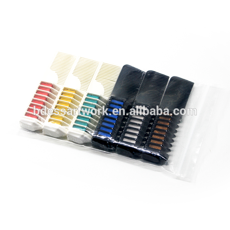ES-HC-002 Single Head Tooth Comb Handle Temporary Dye Hair Chalk Comb