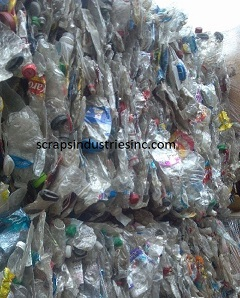 PET bottle scrap, PET bottle in bale, scrap PET bale