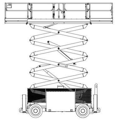 Diesel Engine Self Propelled Scissor Lift