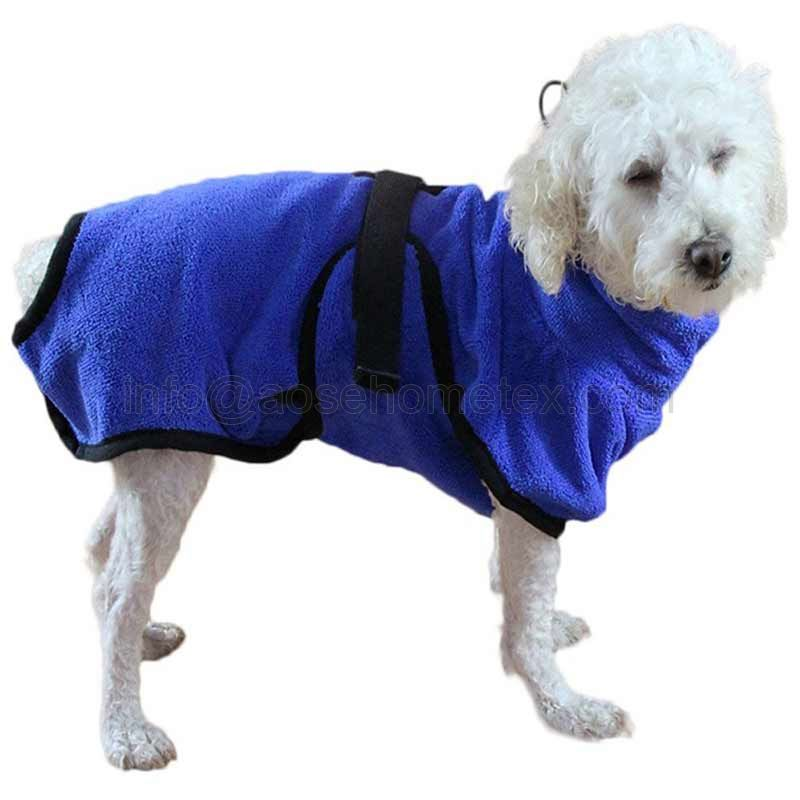 1013B 2020 hot sale microfiber pet bathrobe