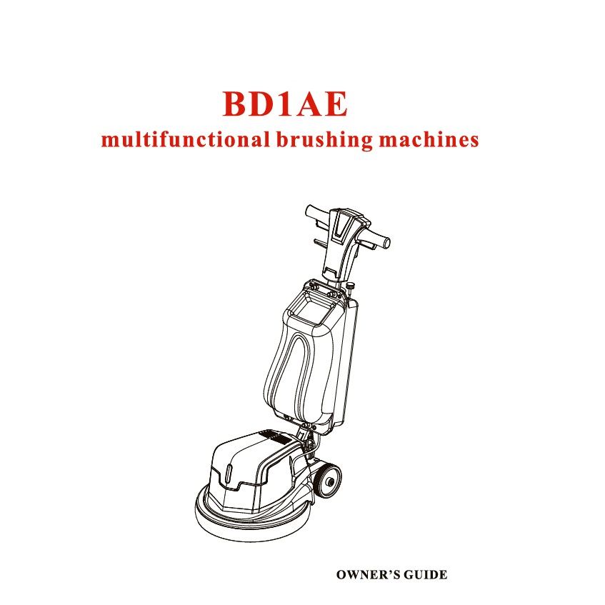 BD1AE Floor Renewing Machine