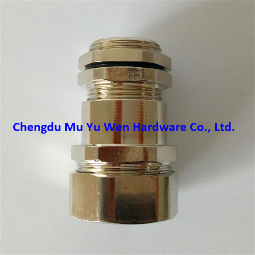 Liquid tight nickel plated brass cable gland for flexible metal conduit