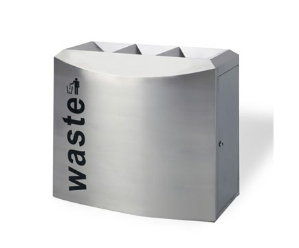 MAX-HB301 Airport Project Large Garbage Stainless Steel Receptacles Indoor Recycling Bin Design Dustbin Commercial Recycle Bin